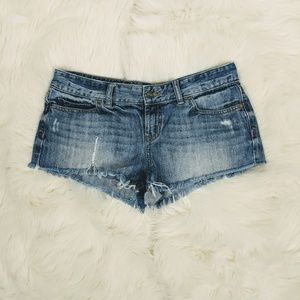 PINK Victoria secret distressed cheekster shorts.